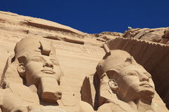 Pharaoh facade of Abu Simbel temple Stock Image