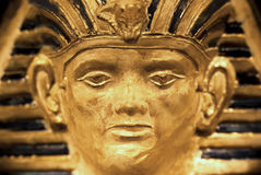 Pharaoh Face. Detailed view of a pharaoh shaped lamp with 3D effect royalty free stock photography