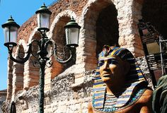 Pharaoh. A pharaoh in front of the arena of verona Stock Photography