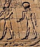 Pharaoh and god hieroglyph Stock Photo