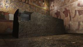 Pharaoh grobowiec w antycznym Egipt ilustracja wektor