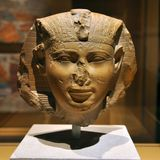 Pharaoh Head Statue of Ancient Egypt Royalty Free Stock Photo