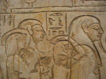 Pharaoh and his people on hieroglyphics Royalty Free Stock Photo