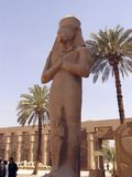 pharaoh at Karnak temple 1 Royalty Free Stock Photo
