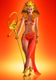 Pharaoh królowa Fotografia Royalty Free