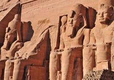 Pharaoh Monument from Abu Simbel, Egypt. Royalty Free Stock Photos