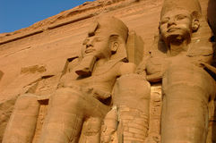 Pharaoh Ramesses II Egypt. Huge statues of Pharaoh Ramesses II, at Abu Simbel, Egypt Royalty Free Stock Images