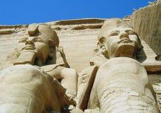 Pharaoh Ramesses II Egypt. Statues of Pharaoh Ramesses II, at Abu Simbel, Egypt Royalty Free Stock Images