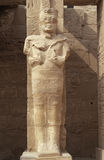 Pharaoh Ramesses statue inside Temples of Karnak Royalty Free Stock Photos
