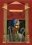 Pharaoh Ramses. Illustration for the cover of a book on the topic of Ancient Egypt royalty free illustration