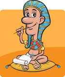 Pharaoh sitting writing a letter. Vector illustration of pharaoh sitting writing a letter. Easy-edit layered vector EPS10 file scalable to any size without Royalty Free Stock Photos
