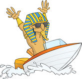 Pharaoh on Speed Boat Royalty Free Stock Photo