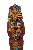 Pharaoh Statue. Colorful statue of an Egyption Pharaoh with gold accents royalty free stock images