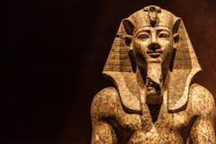 Pharaoh statue. Pharaoh Amnhotep II, 1400 BC, statue made of granite royalty free stock photo