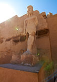 Pharaoh statue in Karnak temple. Pharaoh statue in ancient Karnak temple, Egypt Royalty Free Stock Photos