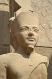 Pharaoh statue in Karnak Temple Stock Image