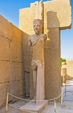 The pharaoh statue in Karnak Temple Royalty Free Stock Images
