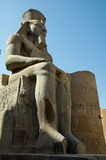 Pharaoh statue in Thebes Stock Images
