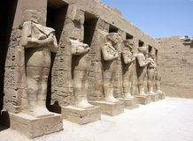 Pharaoh statues. At the Karnak Temple, Luxor, Egypt Stock Photos