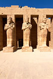 Pharaoh statues in Karnak temple. Pharaoh statues in ancient Karnak temple, Egypt Royalty Free Stock Photography