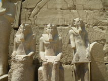 Pharaoh statues, Karnak Temple, Luxor, Egypt Royalty Free Stock Image