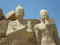 Pharaoh statues, Karnak Temple, Luxor, Egypt Royalty Free Stock Photos