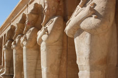 Pharaoh statuy w śmierci Zdjęcie Stock