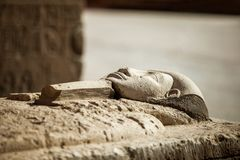 Pharaoh stone sarcophagus tomb royalty free stock images