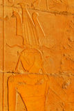 Pharaoh wall detail at Hatshepsut temple Royalty Free Stock Photos