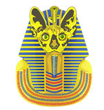 Pharaoh was the head of a cat. Golden statue of the Pharaoh with the head of a cat Royalty Free Stock Photos