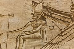 Pharaohs Egyptian Sculpture. Pharaohs Egyptian Arts at Ibn Batuta mall - Dubai Emirates Royalty Free Stock Images