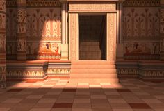 Pharaohs Palace 3D Illustration. 3D Illustration Pharaohs Palace for the Egyptian background Stock Photo