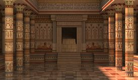 Pharaohs Palace 3D Illustration. 3D Illustration Pharaohs Palace for the Egyptian background Stock Image