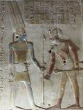 Pharaohs sulle pareti sull'Egitto fotografia stock