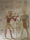 Pharaohs sulle pareti sull'Egitto immagine stock libera da diritti