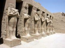 pharaohstatyer Arkivfoton