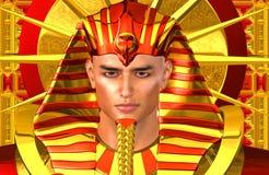 Pharaon égyptien Ramses Une version numérique moderne d'art du roi égyptien antique Images libres de droits