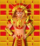 Pharaon égyptien Ramses Une version numérique moderne d'art du roi égyptien antique illustration stock