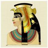 Pharaon avec des couleurs de jaune de rouge bleu Image libre de droits