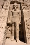 Pharaon chez Abu Simbel, course antique de l'Egypte photo libre de droits