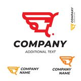 Pharaon Logo Modern Simple et calibre réglé d'identité de marque d'icône de concept commercial propre de symbole Illustration Stock