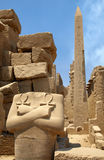 Pharaon and obelisk Stock Photography
