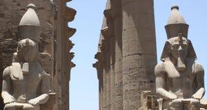 PHARAON statua W świątyni Zdjęcie Royalty Free