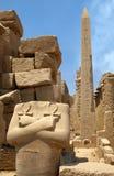 Pharaon und Obelisk Stockfotografie