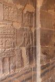 Pharaons avec Dieu sur le temple d'ISIS Philae à Assouan, Egypte Image stock
