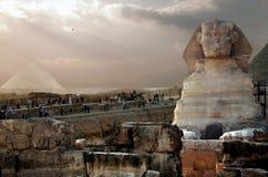 Pharaons de pyramides de l'Egypte le Caire Gizeh vieux Images libres de droits