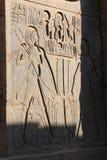 Pharaons sur le temple de Louxor Images libres de droits