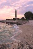 Phare à l'île de Dugi Otok, Croatie Images libres de droits