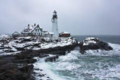 Phare à Portland Images libres de droits