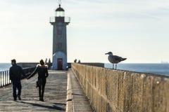 Phare à Porto images libres de droits